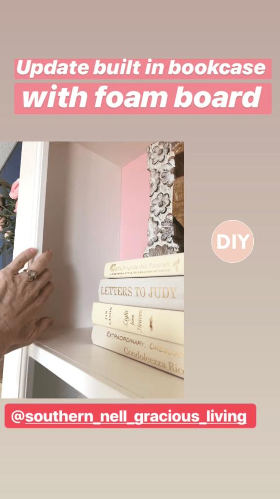 DIY Built in Bookcase with Foam Board