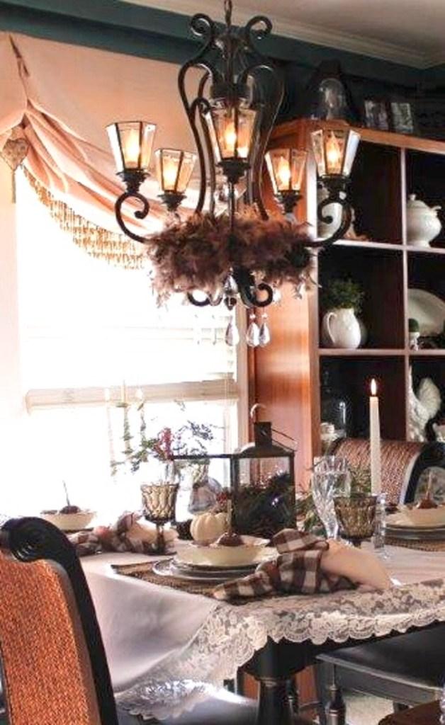 Autumn Into Fall Elegant Farmhouse Tablescape