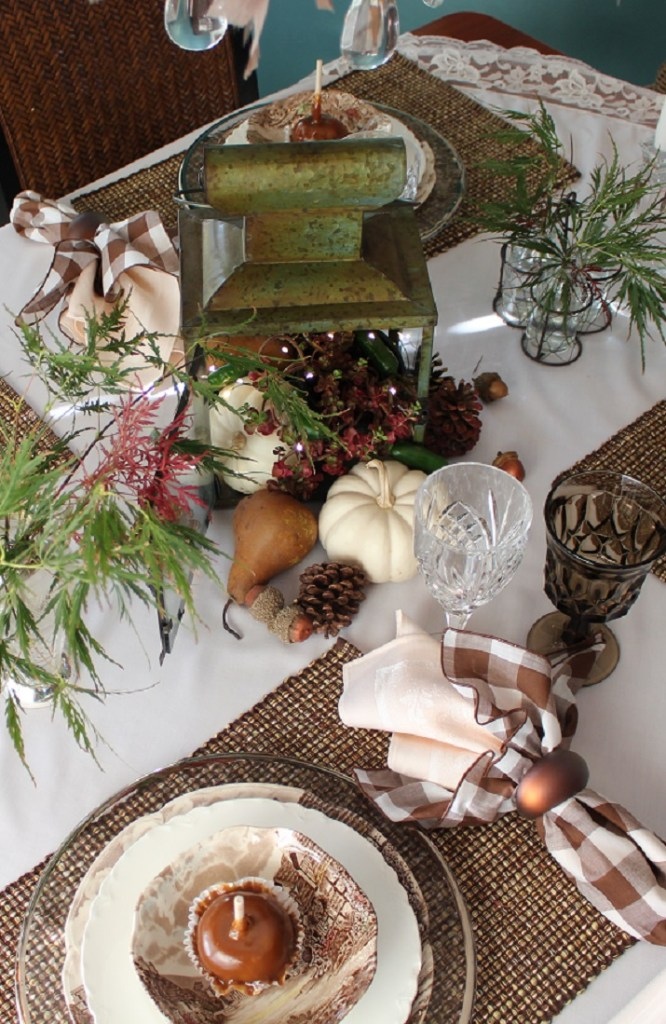 Autumn Into Fall Elegant Farmhouse Tablescape