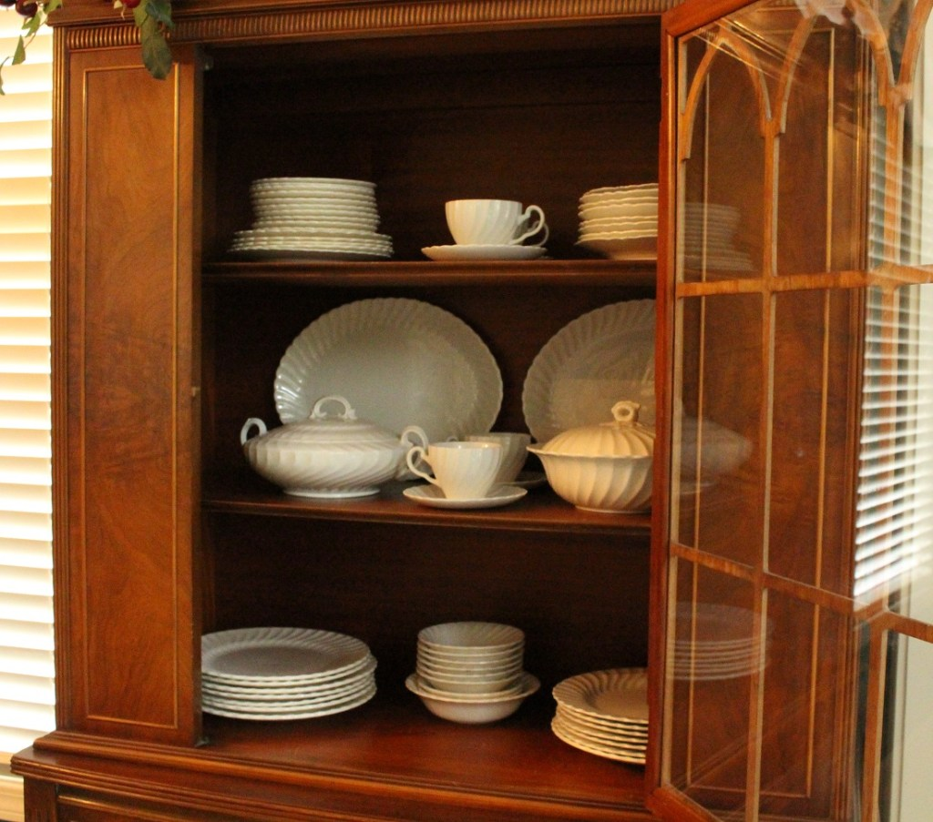 3 Steps to Organize and Decorate Your China Cabinet for Fall
