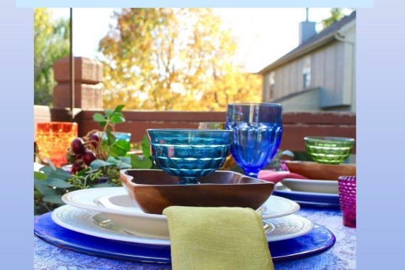 Fall Decor for Outdoor Tablescape