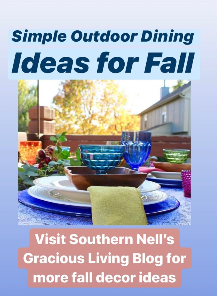 Fall Decor for Outdoor Tablescape