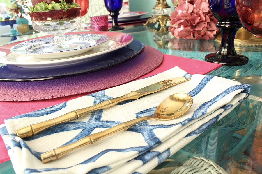 Chinoiserie Napkins and Flatware
