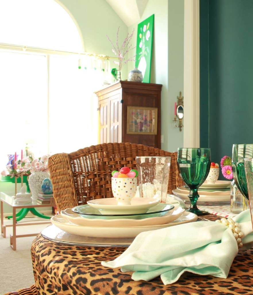 Colorful Easter Tablescape