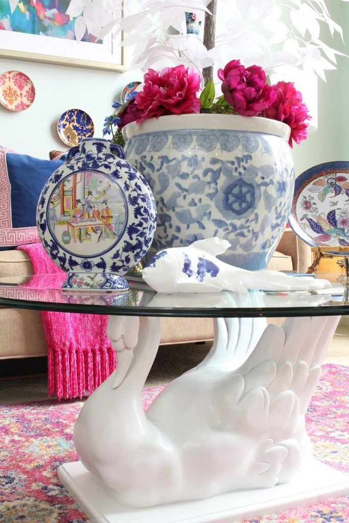 Chinoiserie Home Decor Blue and White