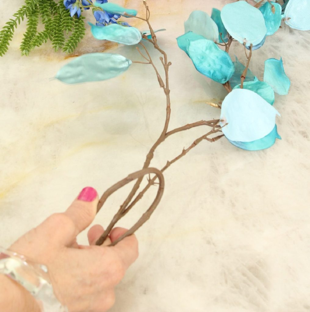 Turquoise Silver Dollar Stems for Centerpiece