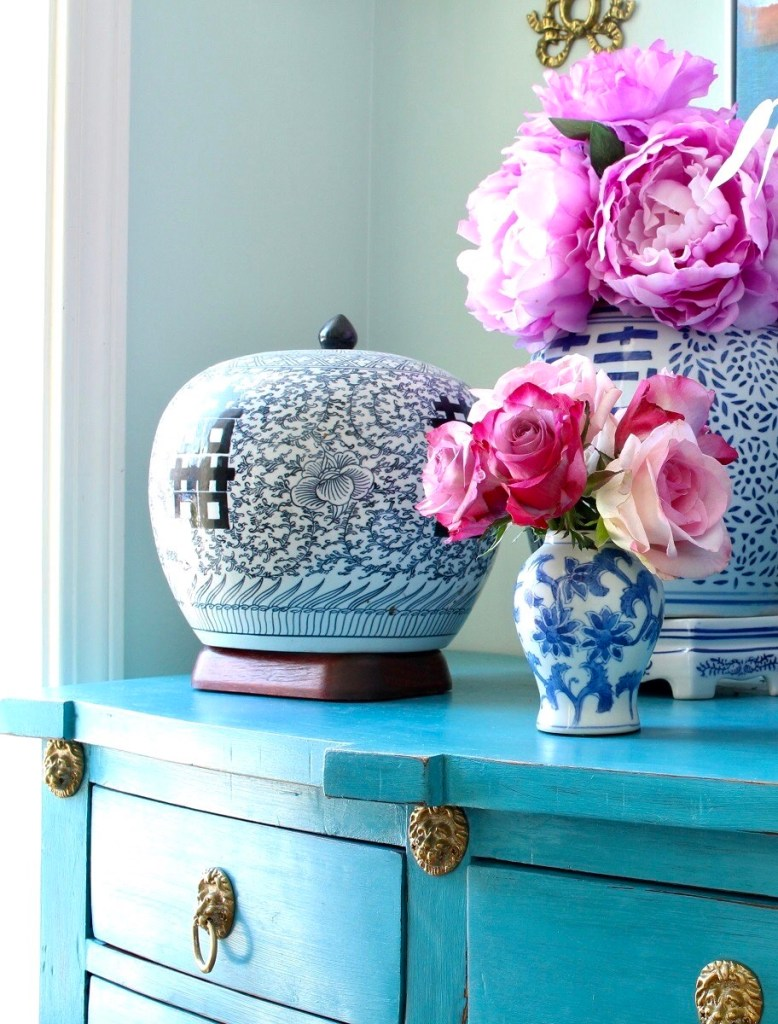 Chinoiserie Ginger Jar with Peonies