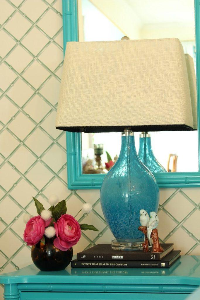 Blown Glass Bedside Lamp