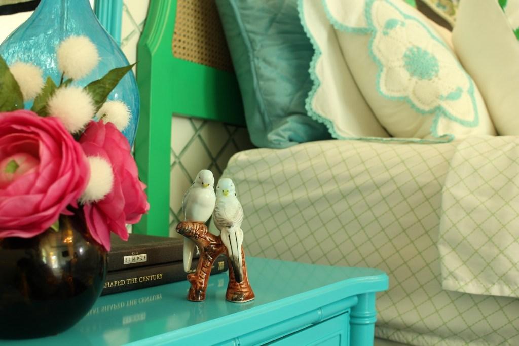 Vintage Blue Ceramic Birds