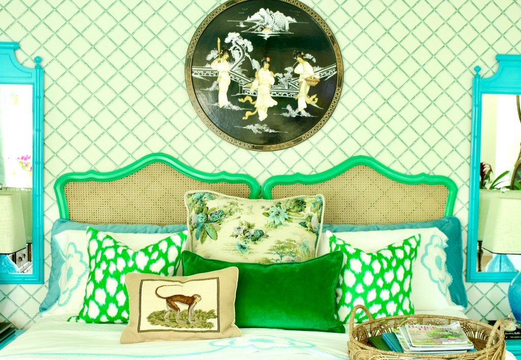 Colorful Chinoiserie Bedding