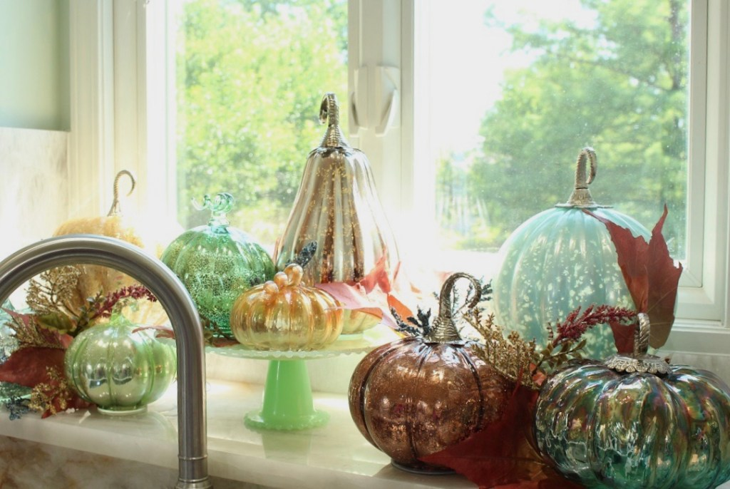 Pastel Mercury Glass Pumpkins