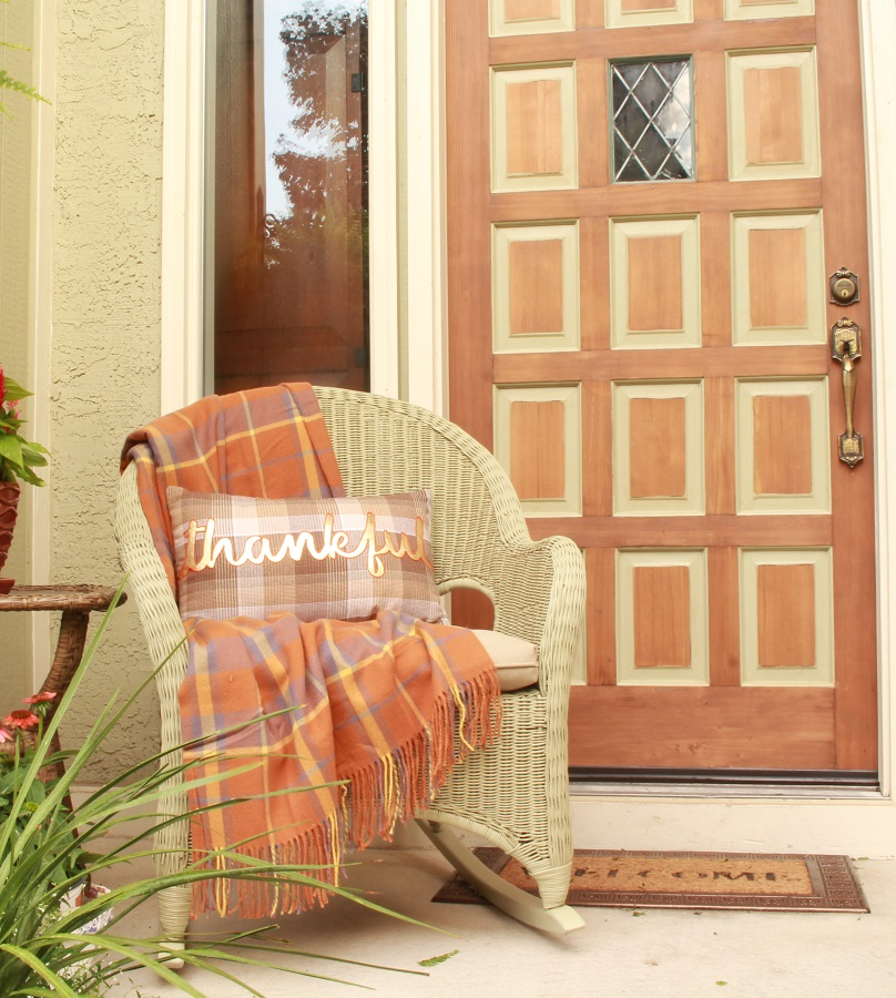 Outdoor Throw Pillow and Welcome Mat