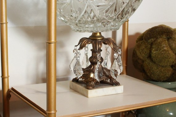 Marble Look Porcelain on Bookshelf Makeover