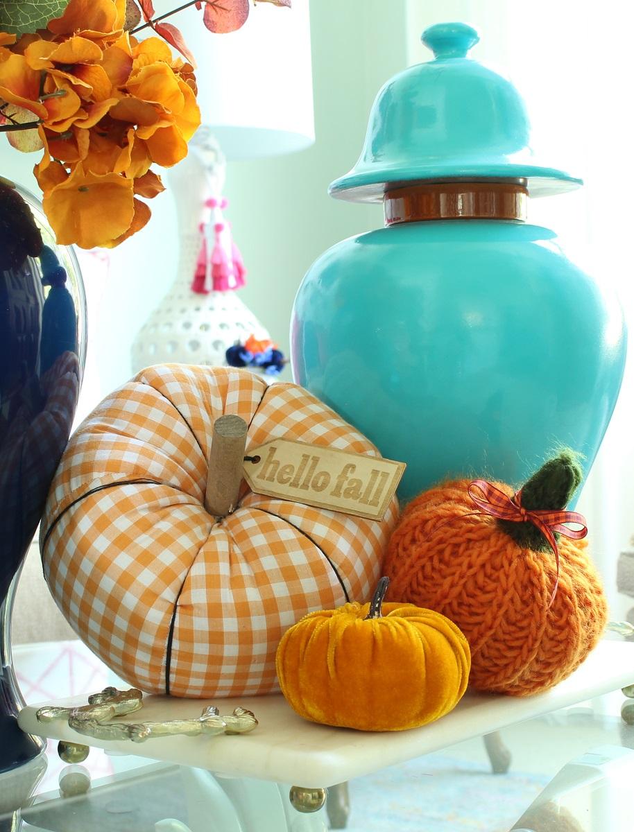 Fabric Fall Pumpkins