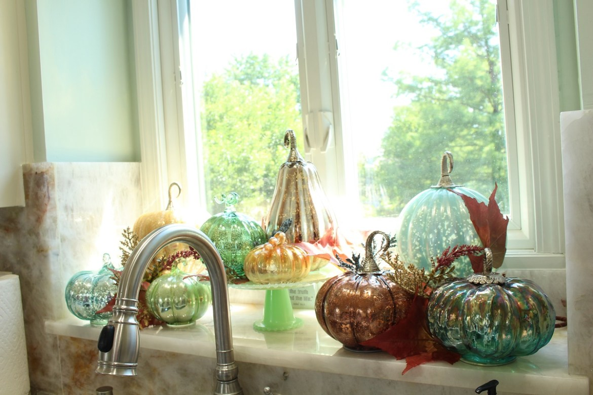 Mercury Glass Pumpkin Collection