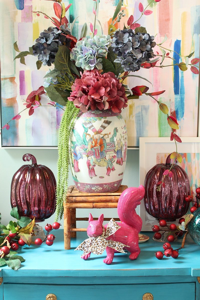 Chinoiserie Fall Entry Decor