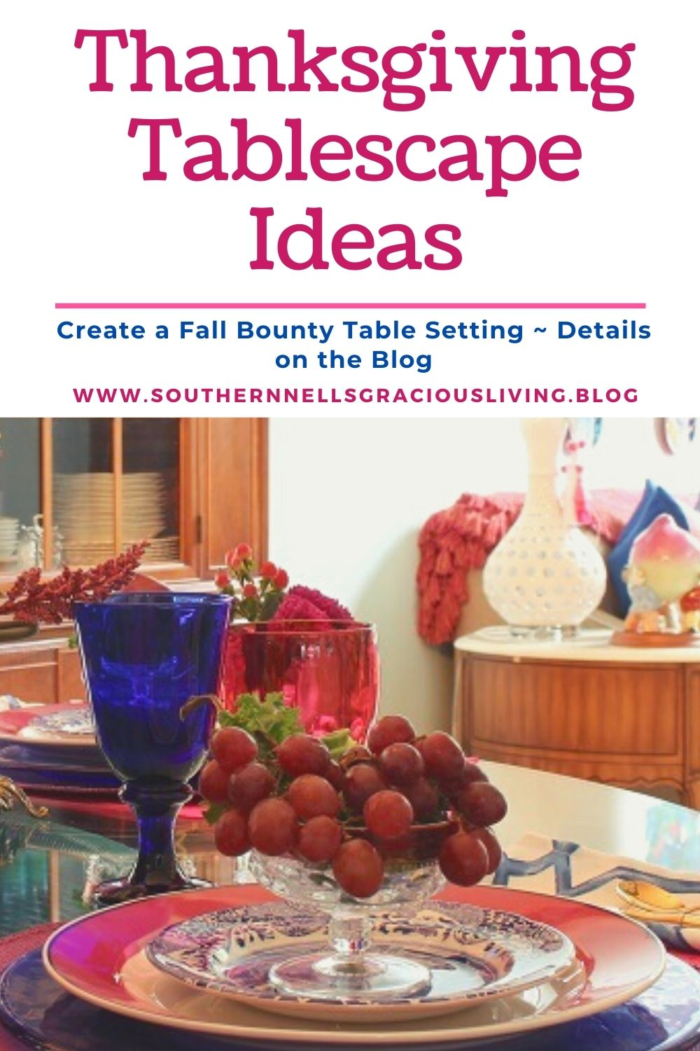 Autumn Bounty Table Setting
