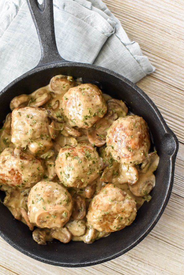 Southern parm-chicken Marsala meatballs