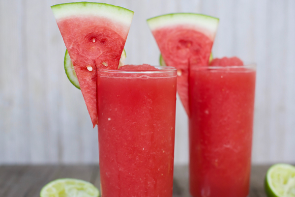 frozen watermelon-lime daiquiris