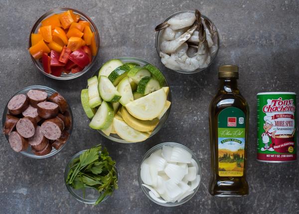 Cajun Shrimp, Sausage & Veggie Foil Pack Meals