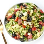 """BLT"" Shaved Brussel Sprout Chopped Salad"