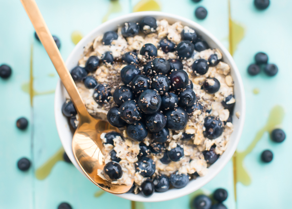 Blueberry Muffin Batter Overnight Oats