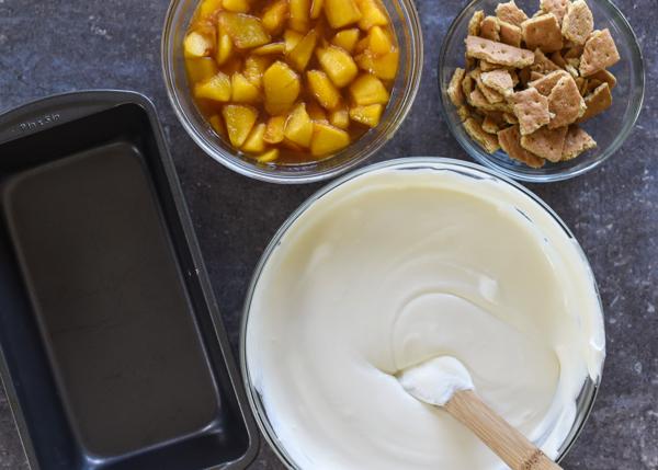 No Churn Peach Cobbler Ice Cream