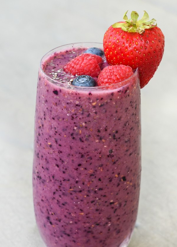 Immune Boosting Triple Berry Smoothie