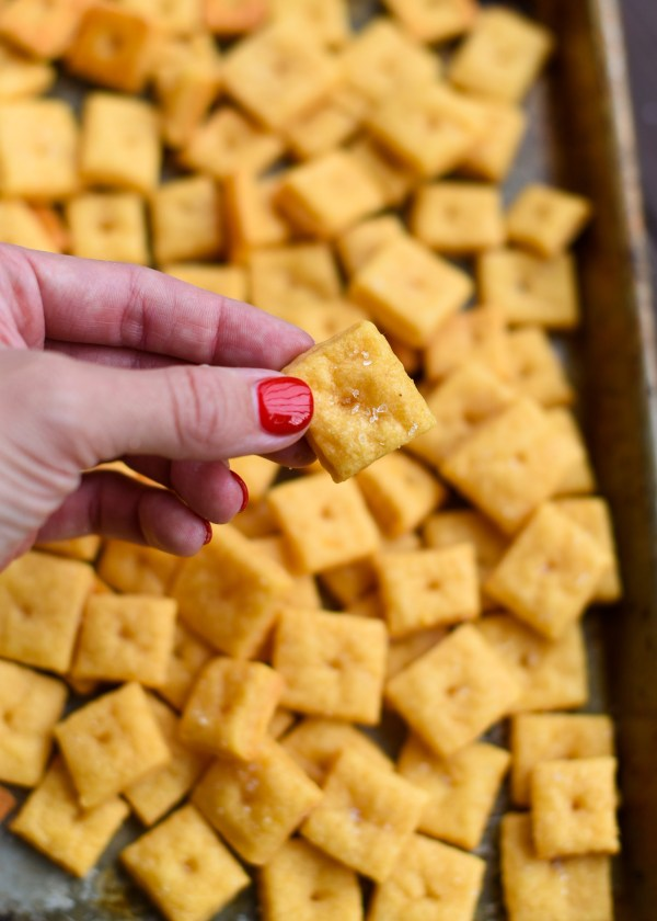 Homemade Gluten Free Cheddar CheezIts