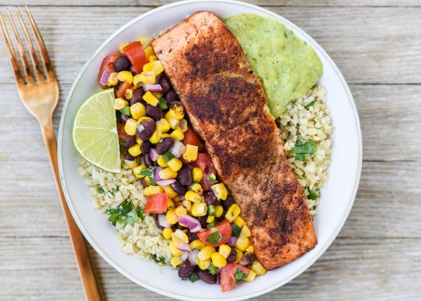 Spicy Salmon Bowl with Corn Salsa