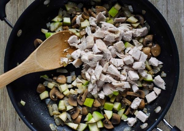 Leftover Turkey Stuffed Acorn Squash