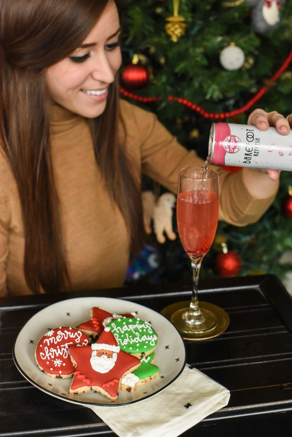The Perfect Holiday Raspberry Wine Spritzer