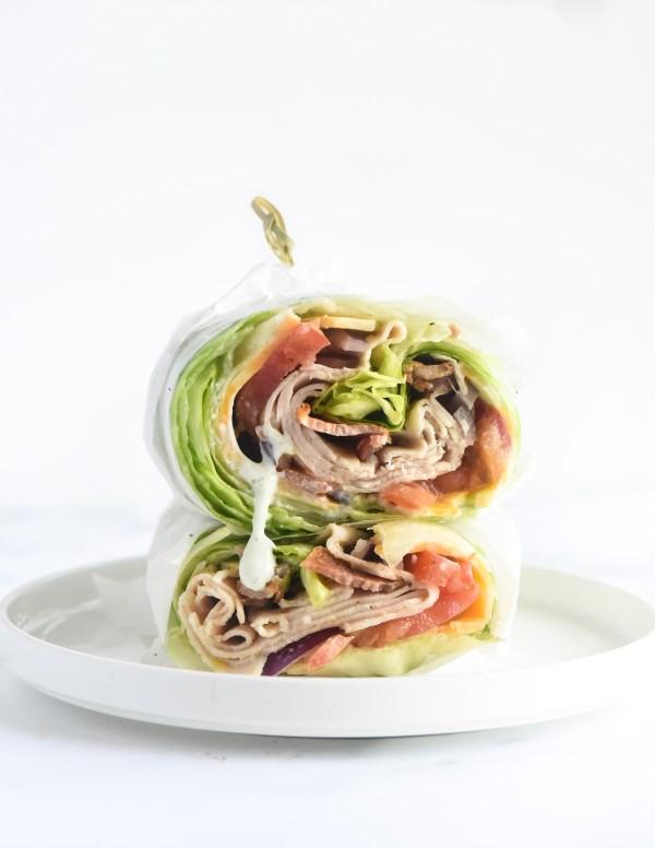 Turkey Bacon Ranch Lettuce Wraps