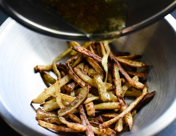 Oven Baked Garlic Parmesan French Fries