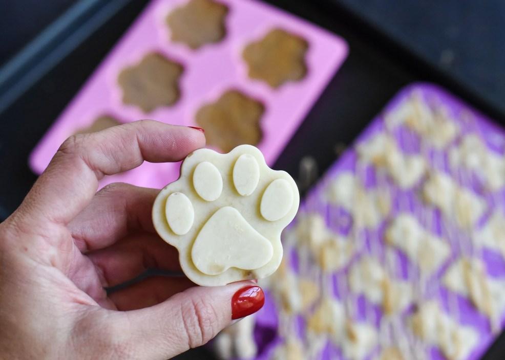 Frozen Peanut Butter & Banana Yogurt Dog Treats