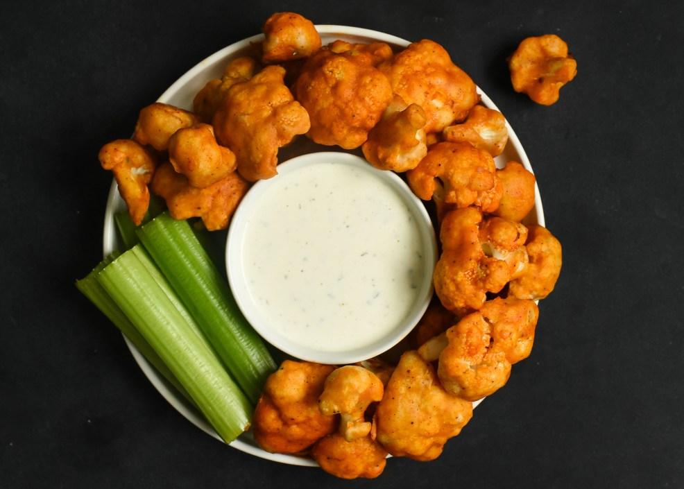 """Gluten Free Cauliflower Buffalo """"Wings"""""""