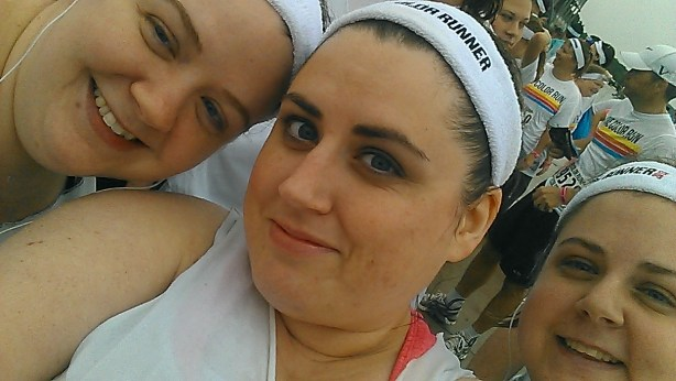 Kristi,me,and Courtney before the Color Run