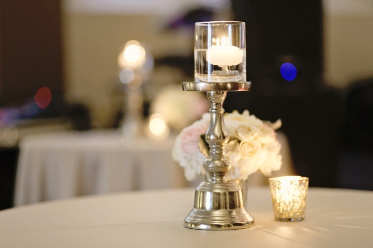 cocktail table centerpiece | mercury glass centerpiece