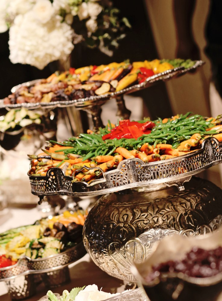 grilled veggie station | pretty presentations catering | elegant reception food stations