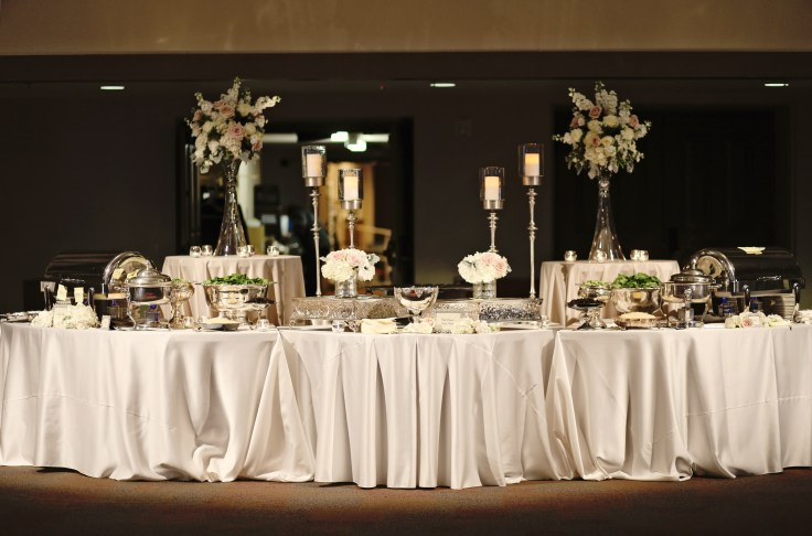 elegant food buffet set up | the riley center meridian ms | pretty presentations catering