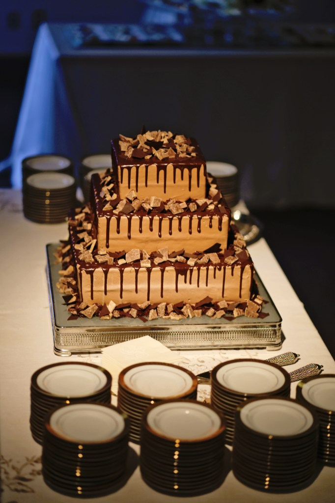 chocolate and heath bar groom's cake | meridian ms wedding