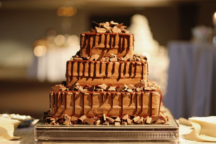 chocolate grooms cake | msu riley center reception