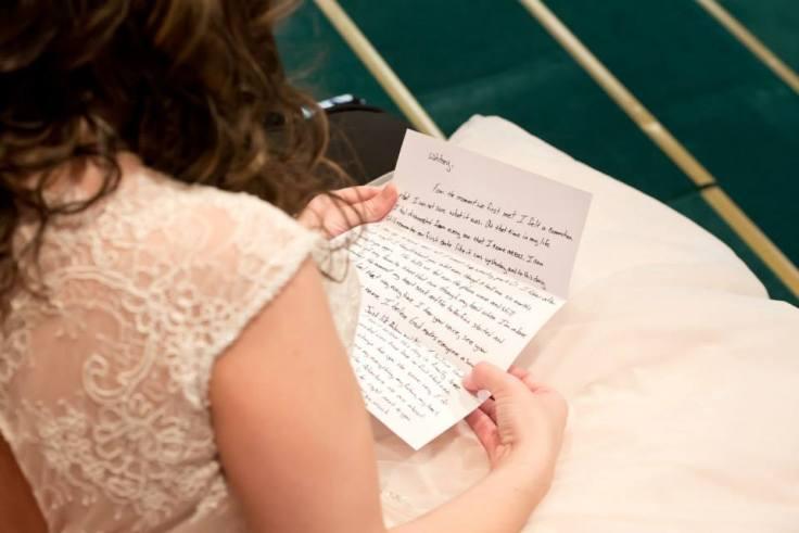 wedding day letter