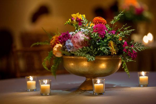 Greenery Centerpiece at a Southern Boho Wedding