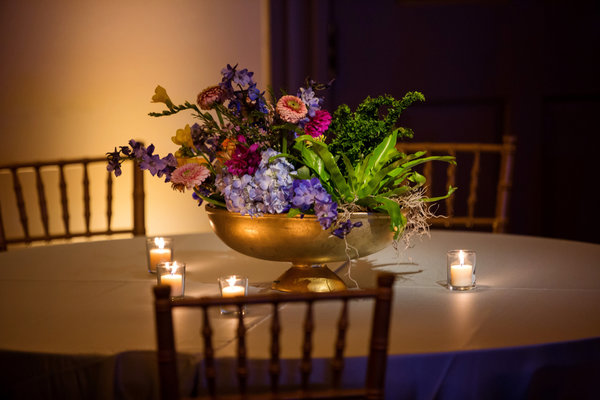 Mississippi Wedding with Bright Summer Centerpieces