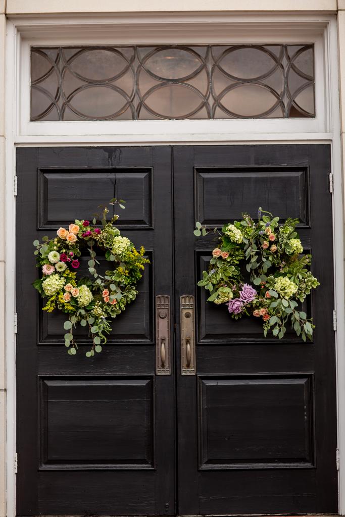 Wedding Wreaths from a Boho Mississippi Wedding