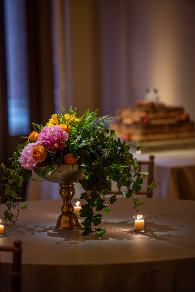 Bright Summer Centerpieces at this Mississippi Wedding
