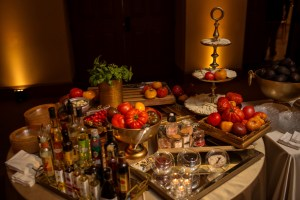 Reception Food at Mississippi Wedding