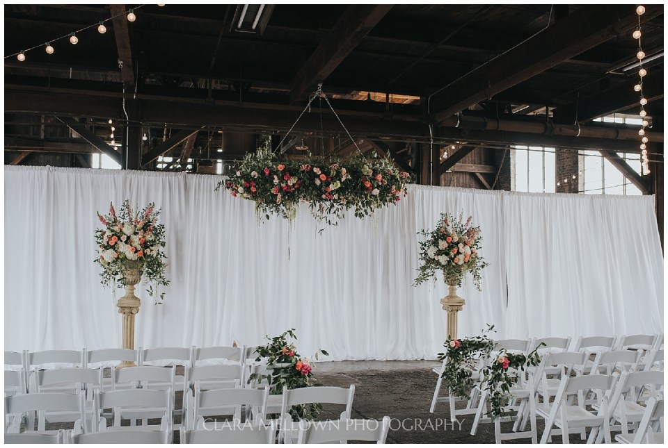 Coral and Pink Mississippi Wedding at Soule Steam Feed Works
