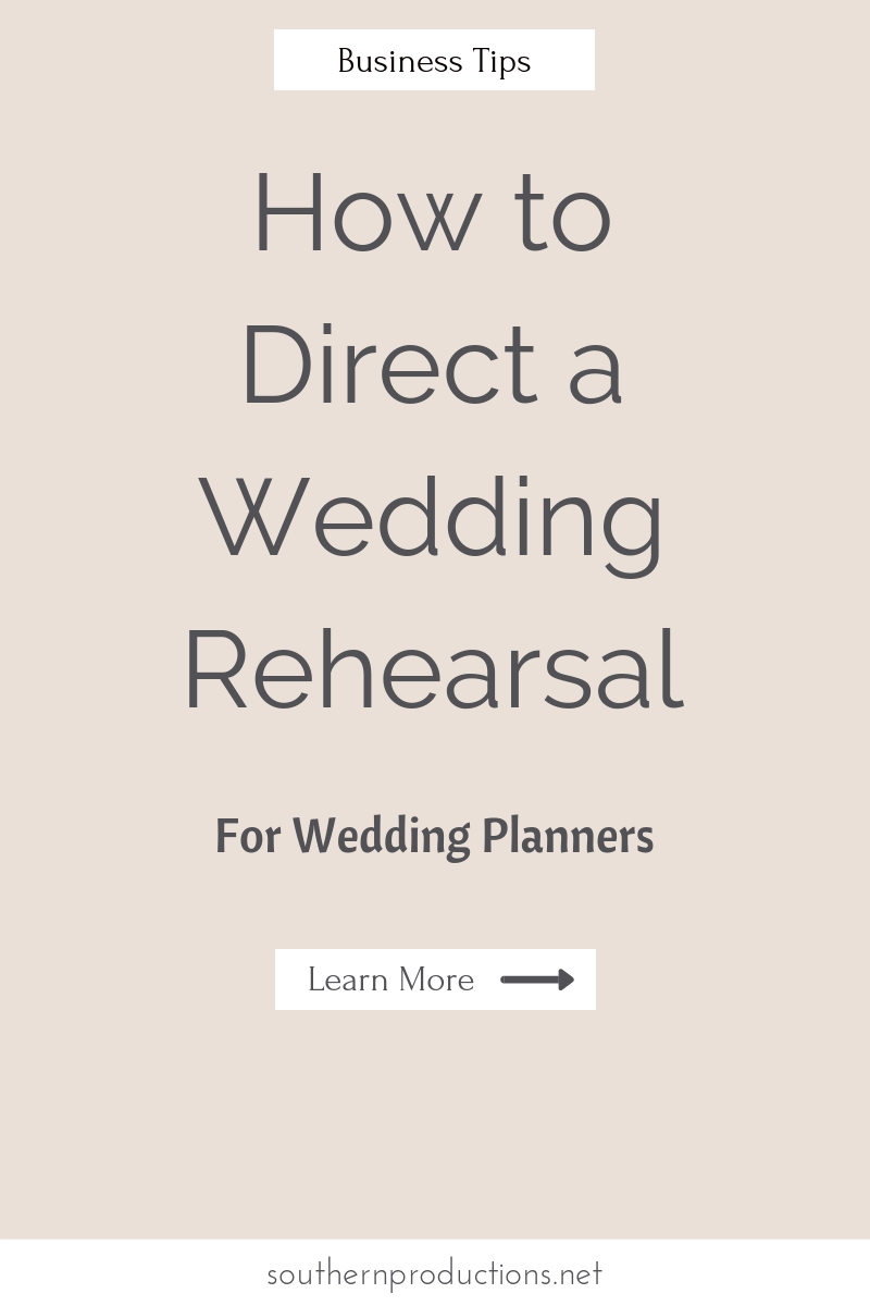 How to direct a wedding rehearsal